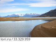 Купить «Stream getting to Argentino lake - South Patagonia», фото № 33329959, снято 8 апреля 2020 г. (c) PantherMedia / Фотобанк Лори