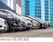 Cars For Sale Stock Lot Row. Стоковое фото, фотограф Юрий Бизгаймер / Фотобанк Лори