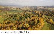 Купить «Picturesque autumn view with church on a hill. Czech Republic», видеоролик № 33336615, снято 18 октября 2019 г. (c) Яков Филимонов / Фотобанк Лори