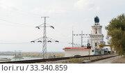 Купить «Цимлянская ГЭС, главный корпус», фото № 33340859, снято 12 октября 2017 г. (c) Игорь Тарасов / Фотобанк Лори