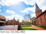 Купить «Government House and St. Anne church in Annapolis», фото № 33342443, снято 29 апреля 2018 г. (c) Сергей Новиков / Фотобанк Лори