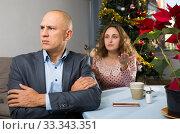 Купить «Couple quarreling at home», фото № 33343351, снято 10 января 2019 г. (c) Яков Филимонов / Фотобанк Лори