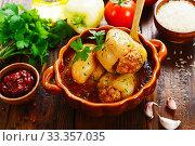 Купить «Stuffed paprika with meat», фото № 33357035, снято 26 июля 2019 г. (c) Надежда Мишкова / Фотобанк Лори