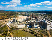 Cement plant in Bunol, Spain. Стоковое фото, фотограф Яков Филимонов / Фотобанк Лори