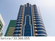Abu Dhabi, UAE - March 31. 2019. Modern arabic architecture in the capital. Редакционное фото, фотограф Володина Ольга / Фотобанк Лори