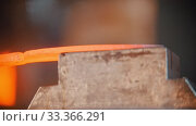 Купить «Forging industry - making a knife under pressure», видеоролик № 33366291, снято 6 июня 2020 г. (c) Константин Шишкин / Фотобанк Лори
