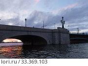 Купить «Троицкий мост на закате дня. Санкт-Петербург», фото № 33369103, снято 6 марта 2020 г. (c) Румянцева Наталия / Фотобанк Лори