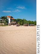 Sri Lanka, Southern Province, Sud du Sri Lanka, Süd Sri Lanka, South Sri Lanka, Talalla, plage, Strand, beach, palmier, palmiers, Palme, Palmen, palm tree, palm trees. Стоковое фото, фотограф Stephan Engler / age Fotostock / Фотобанк Лори