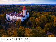 Купить «Konopiste castle, Benesov, Czech Republic», фото № 33374643, снято 12 октября 2019 г. (c) Яков Филимонов / Фотобанк Лори