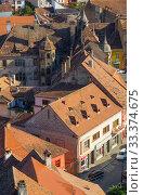 Купить «View from Sighisoara clock tower, Romania», фото № 33374675, снято 16 сентября 2017 г. (c) Яков Филимонов / Фотобанк Лори