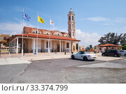 Church of Apostolos Lukas in Kolossi village. Limassol District. Cyprus (2018 год). Редакционное фото, фотограф Serg Zastavkin / Фотобанк Лори