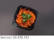 Купить «Carrot salad view», фото № 33376151, снято 28 января 2020 г. (c) Гурьянов Андрей / Фотобанк Лори