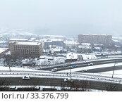Купить «Россия, город Владивосток в марте во время циклона», фото № 33376799, снято 4 марта 2020 г. (c) Овчинникова Ирина / Фотобанк Лори