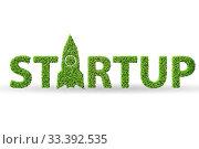 Купить «Green Start-up concept - 3d rendering», фото № 33392535, снято 4 апреля 2020 г. (c) Elnur / Фотобанк Лори