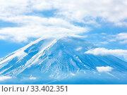 Купить «Mountain Fuji fujisan fromkawaguchigo lake at Yamanashi Japan», фото № 33402351, снято 7 августа 2020 г. (c) easy Fotostock / Фотобанк Лори