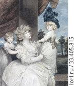 Купить «Jane Stanhope, Countess of Harrington, 1755-1824, with her sons. After a work by Sir Joshua Reynolds.», фото № 33405815, снято 28 июня 2019 г. (c) age Fotostock / Фотобанк Лори