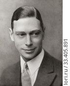 Купить «EDITORIAL Prince Albert Frederick Arthur George, future George VI, 1895-1952. King of the United Kingdom and the Dominions of the British Commonwealth. From King George the Sixth, published 1937.», фото № 33405891, снято 27 мая 2020 г. (c) age Fotostock / Фотобанк Лори