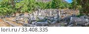 Купить «The Bouleuterion in Ancient Priene ruins, Turkey», фото № 33408335, снято 20 июля 2019 г. (c) Sergii Zarev / Фотобанк Лори