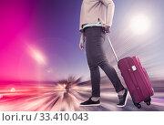 Woman with suitcase awaiting aircraft. Стоковое фото, фотограф Яков Филимонов / Фотобанк Лори