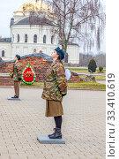 Купить «Memory Watch in the Brest Fortress. Republic of Belarus», фото № 33410619, снято 10 марта 2020 г. (c) Parmenov Pavel / Фотобанк Лори