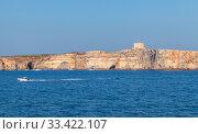 Купить «Malta. Summer landscape with Saint Mary Tower», фото № 33422107, снято 25 августа 2019 г. (c) EugeneSergeev / Фотобанк Лори