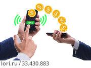 Concept of mobile wallet transfers - 3d rendering. Стоковое фото, фотограф Elnur / Фотобанк Лори