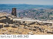 Pergamon Ancient City in Turkey (2019 год). Стоковое фото, фотограф Sergii Zarev / Фотобанк Лори