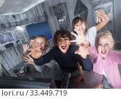 Купить «children play in the quest room of a inscrutable bunker», фото № 33449719, снято 21 октября 2017 г. (c) Яков Филимонов / Фотобанк Лори