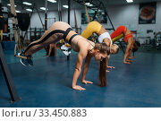 Group of women doing exercise in sport club. Стоковое фото, фотограф Tryapitsyn Sergiy / Фотобанк Лори