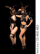 Купить «Slim girls in bdsm style lingerie and masks view», фото № 33468483, снято 30 января 2020 г. (c) Гурьянов Андрей / Фотобанк Лори