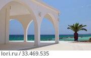 Купить «Ayia Thekla Chapel. Ayia Napa. Cyprus», видеоролик № 33469535, снято 30 марта 2020 г. (c) Serg Zastavkin / Фотобанк Лори
