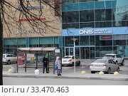Купить «Балашиха, общественная остановка в дни самоизоляции при Коронавирусной инфекции», эксклюзивное фото № 33470463, снято 1 апреля 2020 г. (c) Дмитрий Неумоин / Фотобанк Лори