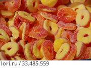 Купить «Разноцветный жевательный мармелад», эксклюзивное фото № 33485559, снято 9 мая 2010 г. (c) lana1501 / Фотобанк Лори