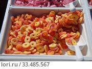Купить «Разноцветный жевательный мармелад», эксклюзивное фото № 33485567, снято 9 мая 2010 г. (c) lana1501 / Фотобанк Лори