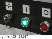 Industrial equipment control panel with usb. Стоковое фото, фотограф EugeneSergeev / Фотобанк Лори