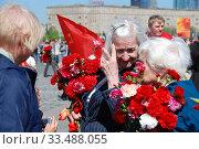 Купить «Ветераны Великой Отечественной войны во время праздника Победы 9 мая на Поклонной горе в Москве», эксклюзивное фото № 33488055, снято 9 мая 2010 г. (c) lana1501 / Фотобанк Лори