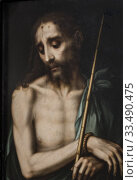 Купить «Cadiz, Spain - May 31th, 2019: Ecce Homo, 1568 by Luis de Morales. Cadiz Museum, Spain. Central Panel.», фото № 33490475, снято 31 мая 2019 г. (c) age Fotostock / Фотобанк Лори