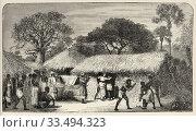 Купить «Arrival of Dr David Livingstone in the village of Tchitammbo, Africa in 1873. The Last Journals of David Livingstone Scottish missionary and explorer,...», фото № 33494323, снято 13 марта 2020 г. (c) age Fotostock / Фотобанк Лори
