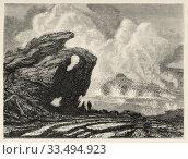 Купить «The Kilauea volcano on the island of Hawaii seen at night. Hawaii, United States. Trip to the Hawaiian Islands 1855 by Charles de Varigny, French adventurer...», фото № 33494923, снято 16 марта 2020 г. (c) age Fotostock / Фотобанк Лори