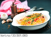 Купить «Chicken breast with cheese and bacon on the plate», фото № 33501083, снято 31 мая 2020 г. (c) age Fotostock / Фотобанк Лори
