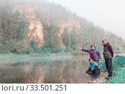 Купить «Tourists on the White River near the white rocks. Bashkortostan.», фото № 33501251, снято 8 сентября 2017 г. (c) Акиньшин Владимир / Фотобанк Лори
