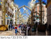 Malaga, Old Town, Andalusia, Spain, Europe. Редакционное фото, агентство Caro Photoagency / Фотобанк Лори