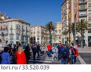 Malaga, Andalusia, Spain, Europe. Редакционное фото, агентство Caro Photoagency / Фотобанк Лори