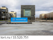 ThyssenKrupp headquarters, Essen, Ruhr Area, North Rhine-Westphalia, Germany. Редакционное фото, агентство Caro Photoagency / Фотобанк Лори