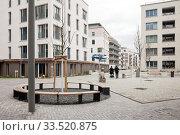 New construction of residential buildings Moeckernkiez Building cooperative in Yorckstrasse in Berlin-Kreuzberg (2019 год). Редакционное фото, агентство Caro Photoagency / Фотобанк Лори