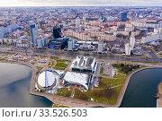 Aerial view of Minsk (2020 год). Редакционное фото, фотограф Яков Филимонов / Фотобанк Лори
