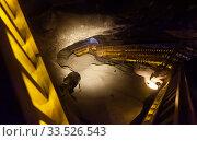 Wooden stairways in Wieliczka salt mine. Редакционное фото, фотограф Яков Филимонов / Фотобанк Лори