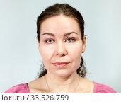 Портрет женщины с нейтральным выражением лица. Стоковое фото, фотограф Кекяляйнен Андрей / Фотобанк Лори