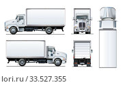 Купить «Vector truck template isolated on white», иллюстрация № 33527355 (c) Александр Володин / Фотобанк Лори