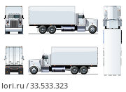 Купить «Vector truck template isolated on white», иллюстрация № 33533323 (c) Александр Володин / Фотобанк Лори